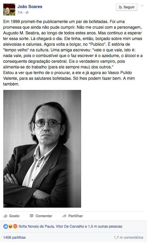 Post de João Soares