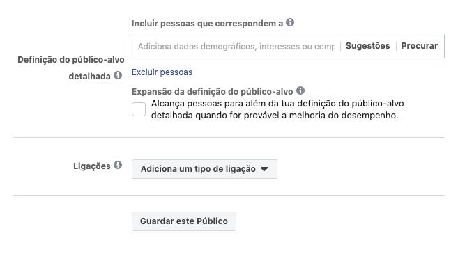 Segmentação de interesses no Facebook