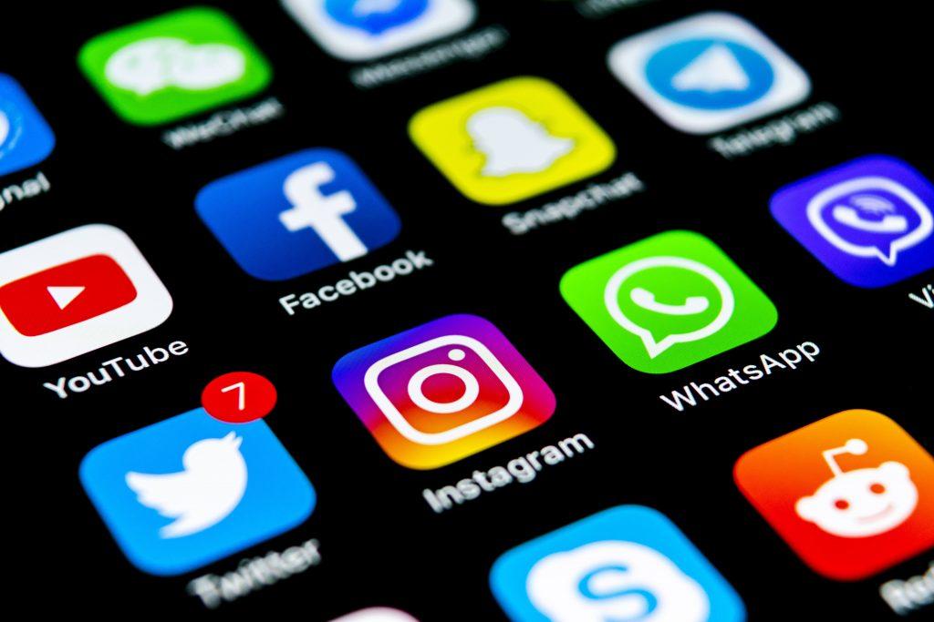 redes sociais ícones