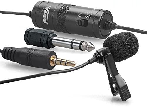microfone de lapela para gravar vídeos com o smartphone